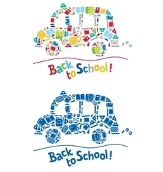 Back to school design template vector