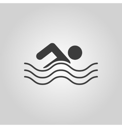 Swimming icon swimmer symbol flat vector