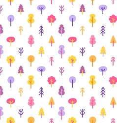 Colorful trees in the park seamless pattern vector