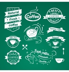 Coffee signs set vector