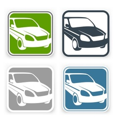 Auto square icons vector