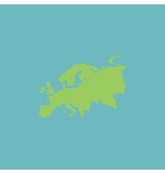 Eurasia map flat icon vector
