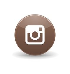 Instagram icon simple style vector