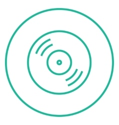 Disc line icon vector