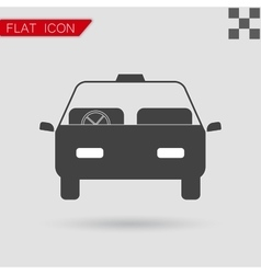 Car icon flat style with red vector