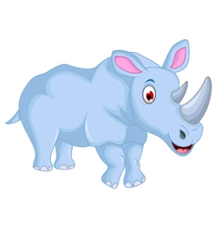 Cute rhino cartoon for you design vector