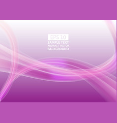 abstract purple wave background graphic design vector image vector image