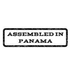 Assembled in panama watermark stamp vector