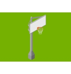 Basketball backboard isometric flat vector image