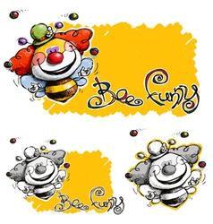 Bee Funny vector image vector image