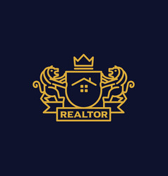 coat of arms realtor vector image