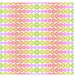 colorful pattern - abstract flowers vector image vector image
