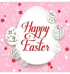 Easter egg on pink background vector