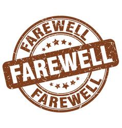 Farewell brown grunge stamp vector