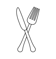 Figure knife and fork icon design vector
