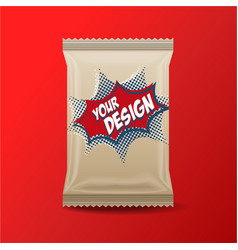 foil food snack pack for biscuit wafer crackers vector image vector image