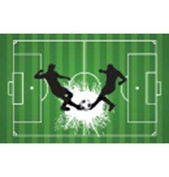 Football or soccer background with silhouettes of vector
