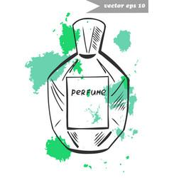 fragnance bottle 3 vector image vector image
