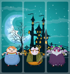 Halloween and background set 1 vector