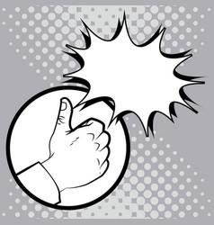 hand like pop art image vector image