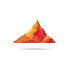 Low poly mountain design vector image
