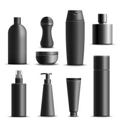 mens cosmetics realistic set vector image