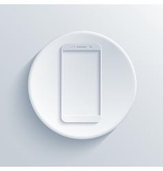 modern smartphone light circle icon vector image vector image