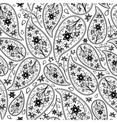 Oriental paisley seamless pattern vector image vector image