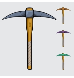 Pickaxe cartoon isolated vector