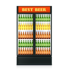 Realistic vertical freezer vector