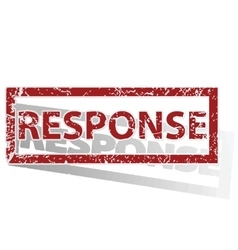 Response outlined stamp vector