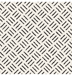 Seamless black and white hand drawn lines vector