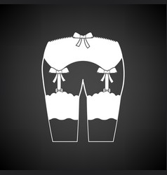 sex stockings icon vector image vector image