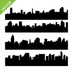 Skyline silhouettes vector image vector image