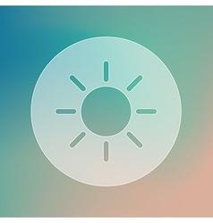 Sun transparent icon meteorology weather vector