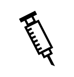 Syringe medical isolated icon vector
