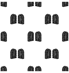 Ten commandments icon in black style isolated on vector