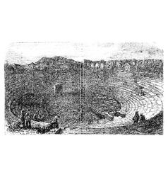 Verona arena in 1890 in verona italy vintage vector