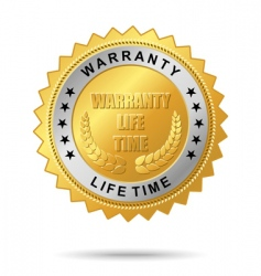 warranty life time golden label vector image vector image