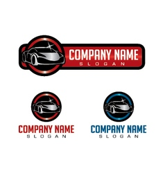 Shiny car logo vector