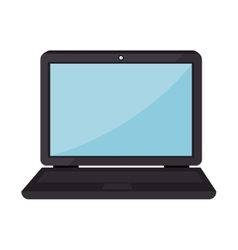 Laptop screen computer portable technology vector