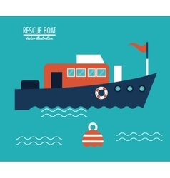 Boat ship sea design vector