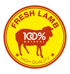 Fresh lamb label vector
