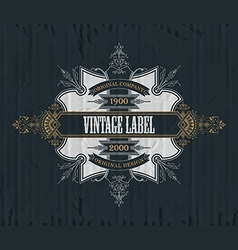 Vintage typographic label premium vector