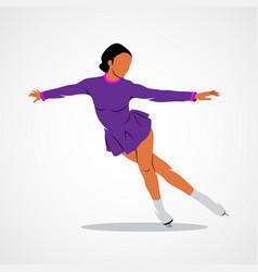 Sport figure skating vector