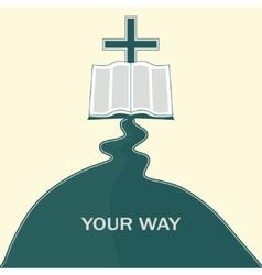 Journey of faith vector
