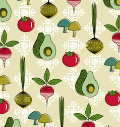 Retro vegetables vector