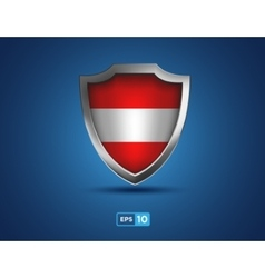 Austria shield on the blue background vector
