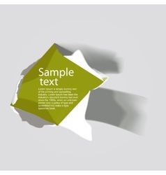 Realistic torn paper with space for text vector