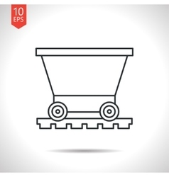 Vetor color flat trolley icon epsoutline classic vector